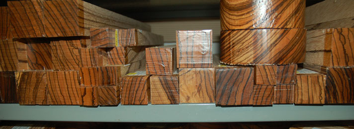 Timberline Exotic Hardwoods - Zebrano Wood Turning Blanks